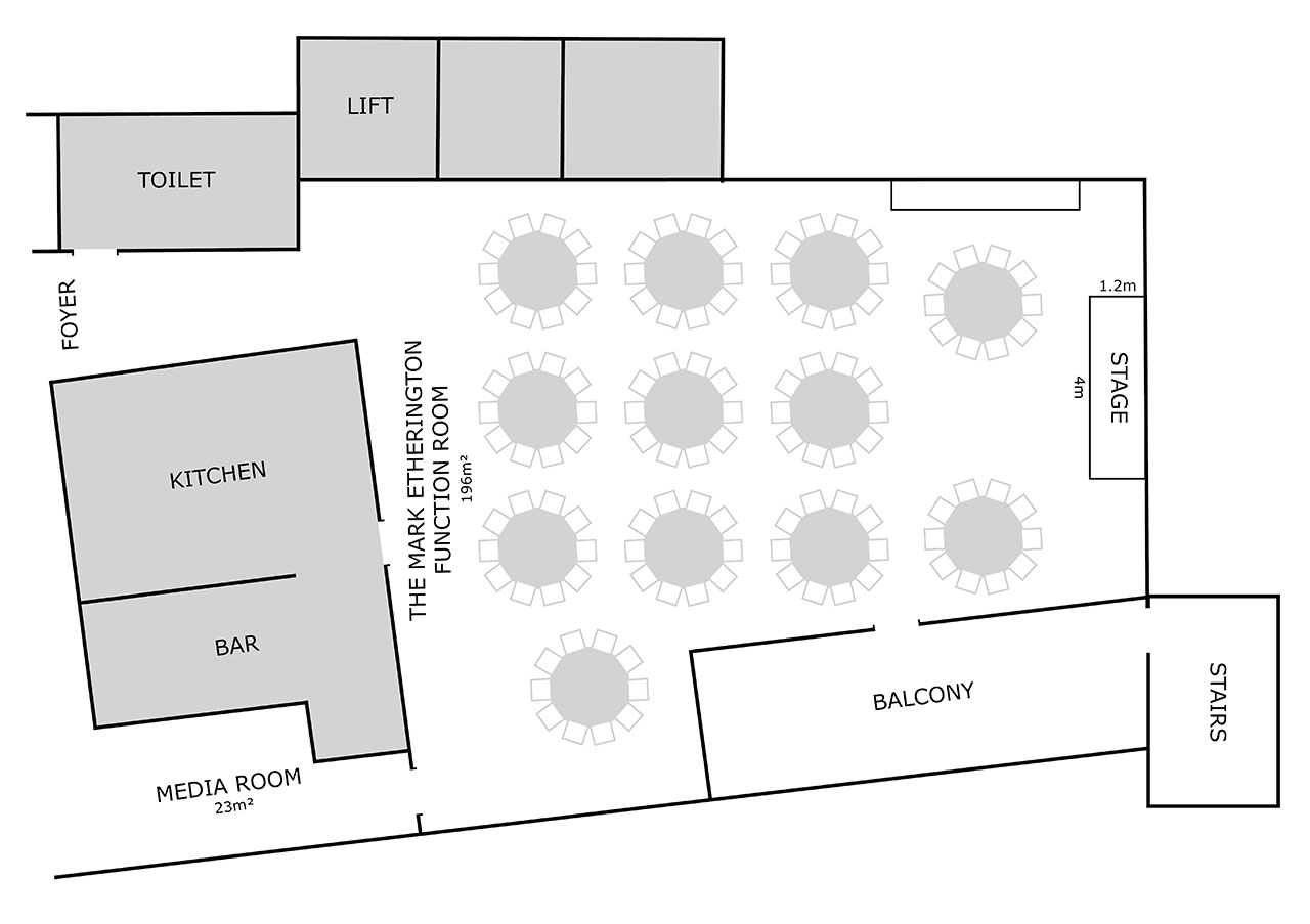 The Mark Etherington Function Room Floorplan
